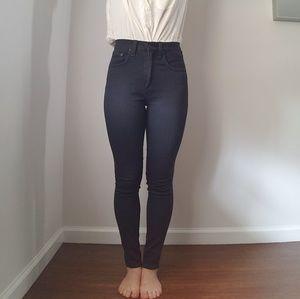 Rag & Bone High Rise Charcole Skinny Jeans